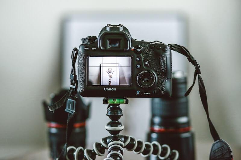 Bildproduktion mit professioneller Kamera