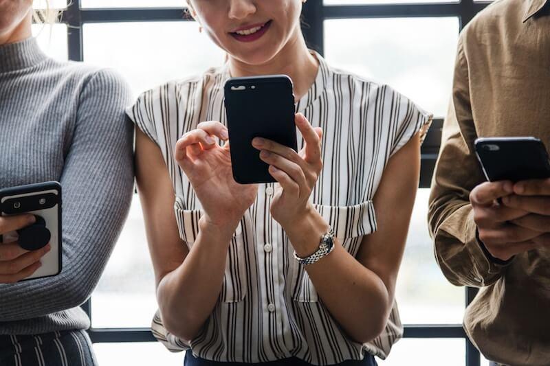 Social Media Nutzung auf Smartphone